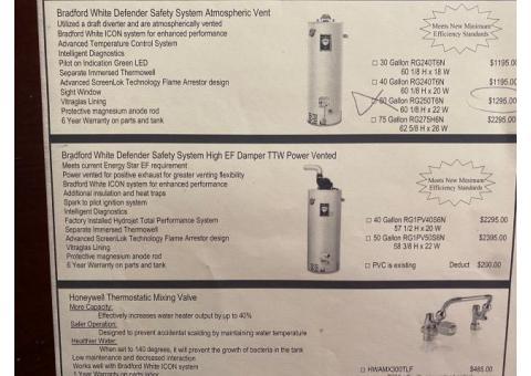 water heater - still has warranty