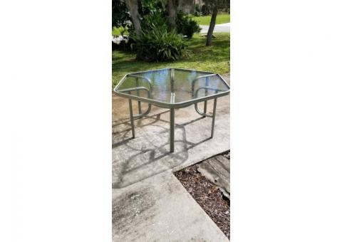 Lanai/Patio Glass Top Table