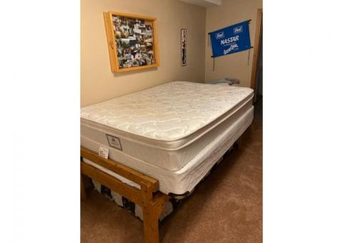 Double size mattress and box springs